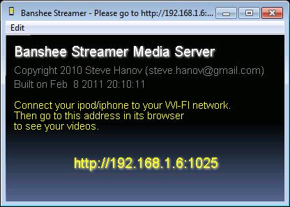 Banshee Streamer Media Server 1.0